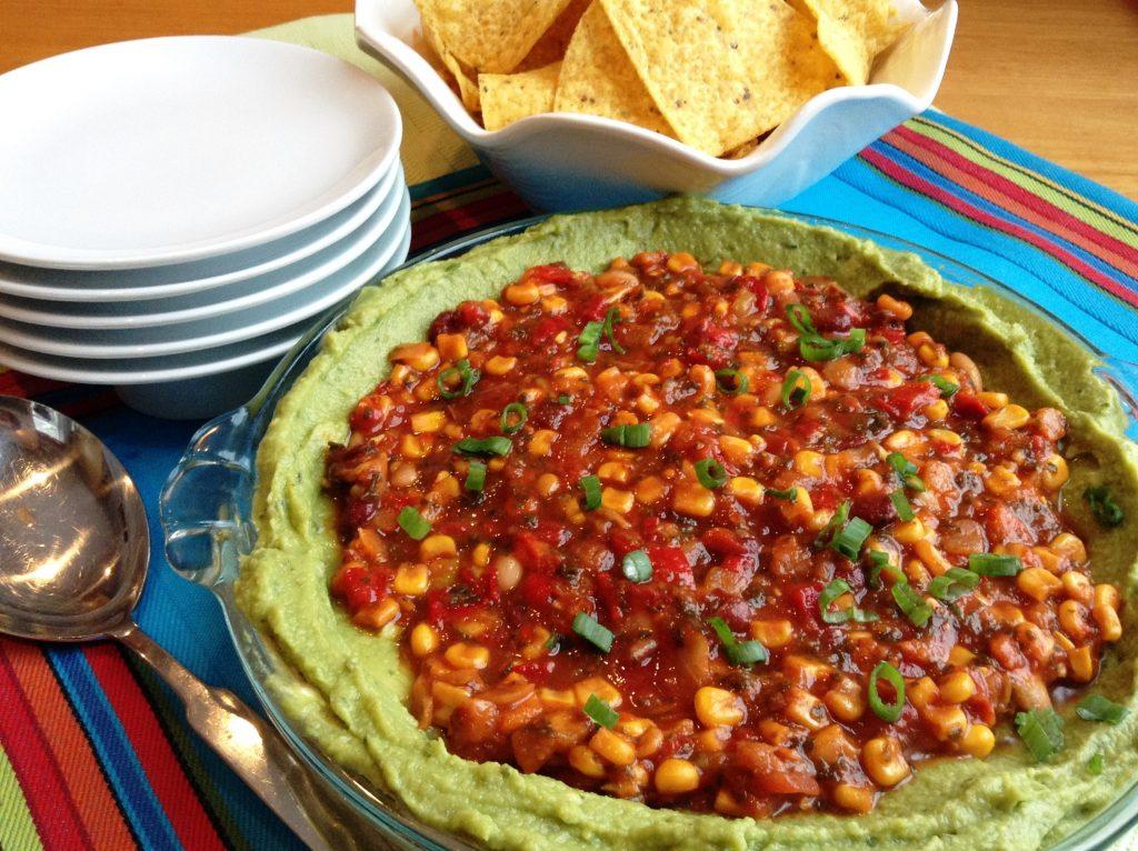 Three Layer Mexican Dip Crop Color