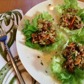 Ginger Teriyaki Pork and Shrimp Lettuce Wraps