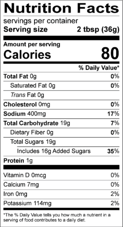 Sweet Bay BBQ Nutrition Facts