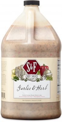 S&F Garlic & Herb Food Service Sauce