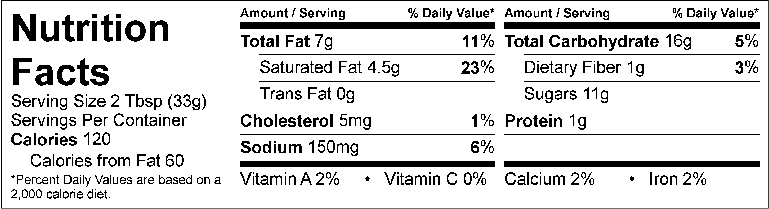 S&F Chocolate Sea Salt Nutrition Facts