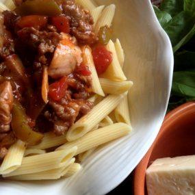 Chicken and Sausage Cacciatore Recipe