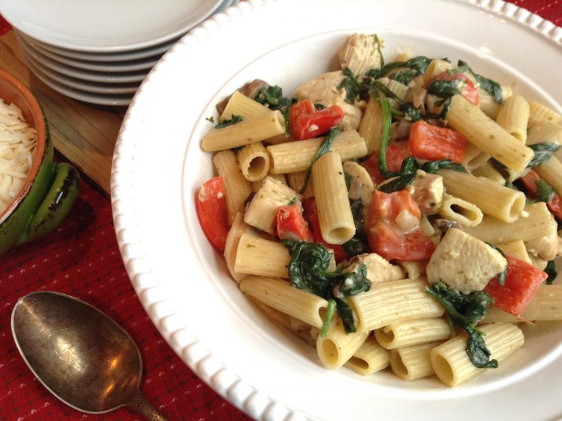 S&F Chicken and Spinach Ziti Recipe