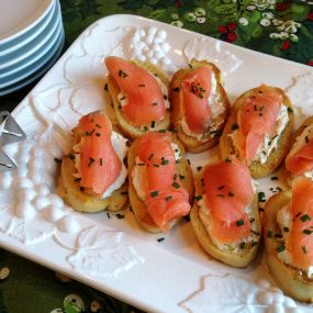 S&F Smoked Salmon Crostini Recipe