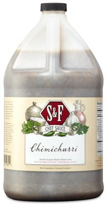 S&F Chimichurri Food Service Sauce