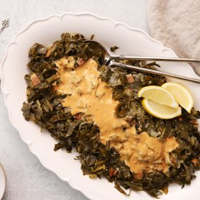 Collard Greens with Southern Creole Sauce