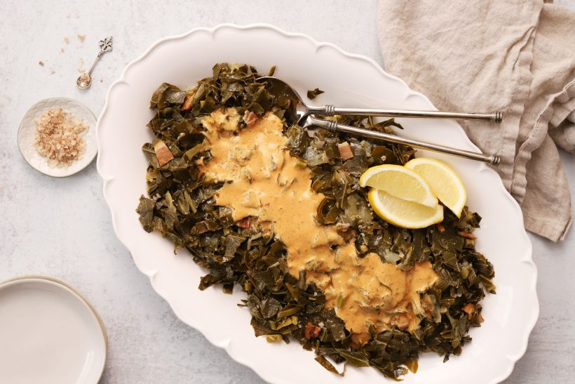 Collard Greens with Southern Creole Sauce