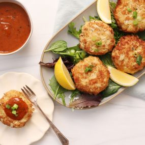 Speed Scratch Crab Cakes with Creole Mustard Sauce