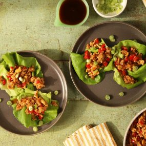 Fragrant Chicken Cashew Lettuce Cups