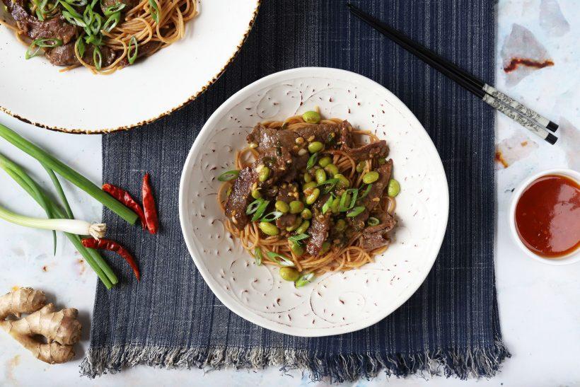 Stir-Fried Ginger Teriyaki Noodles