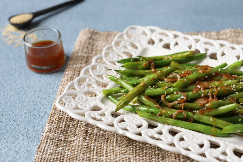 Sweet and Savory Asian Green Beans