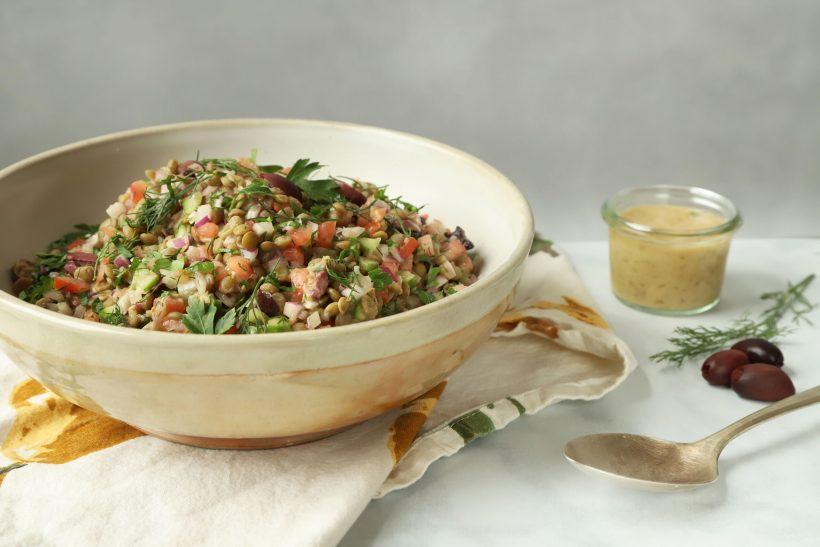 Mediterranean Style Lentil Salad