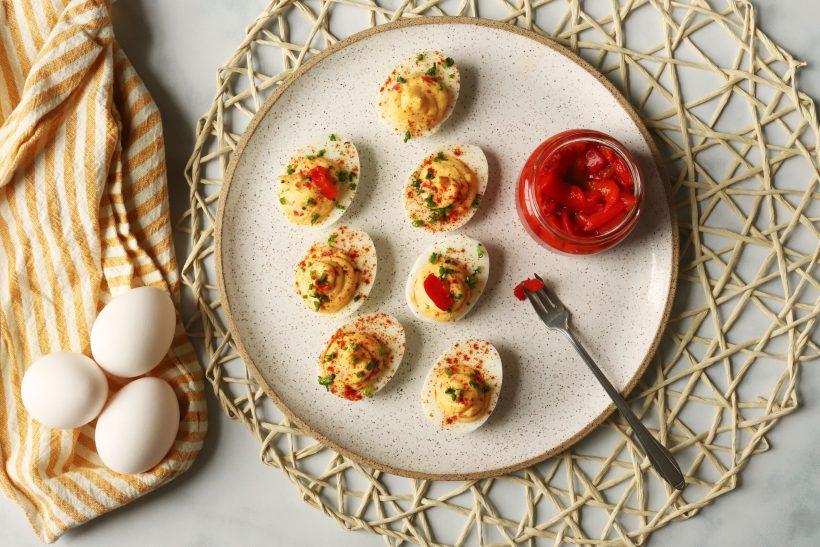Golden Pimento Deviled Eggs