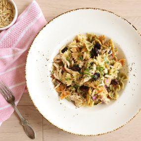 Dried Cherry-Almond Chicken Pasta Salad